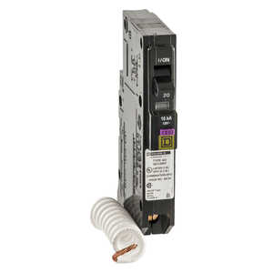 Square D  QO  20 amps Arc Fault/Ground Fault  Single Pole  Circuit Breaker