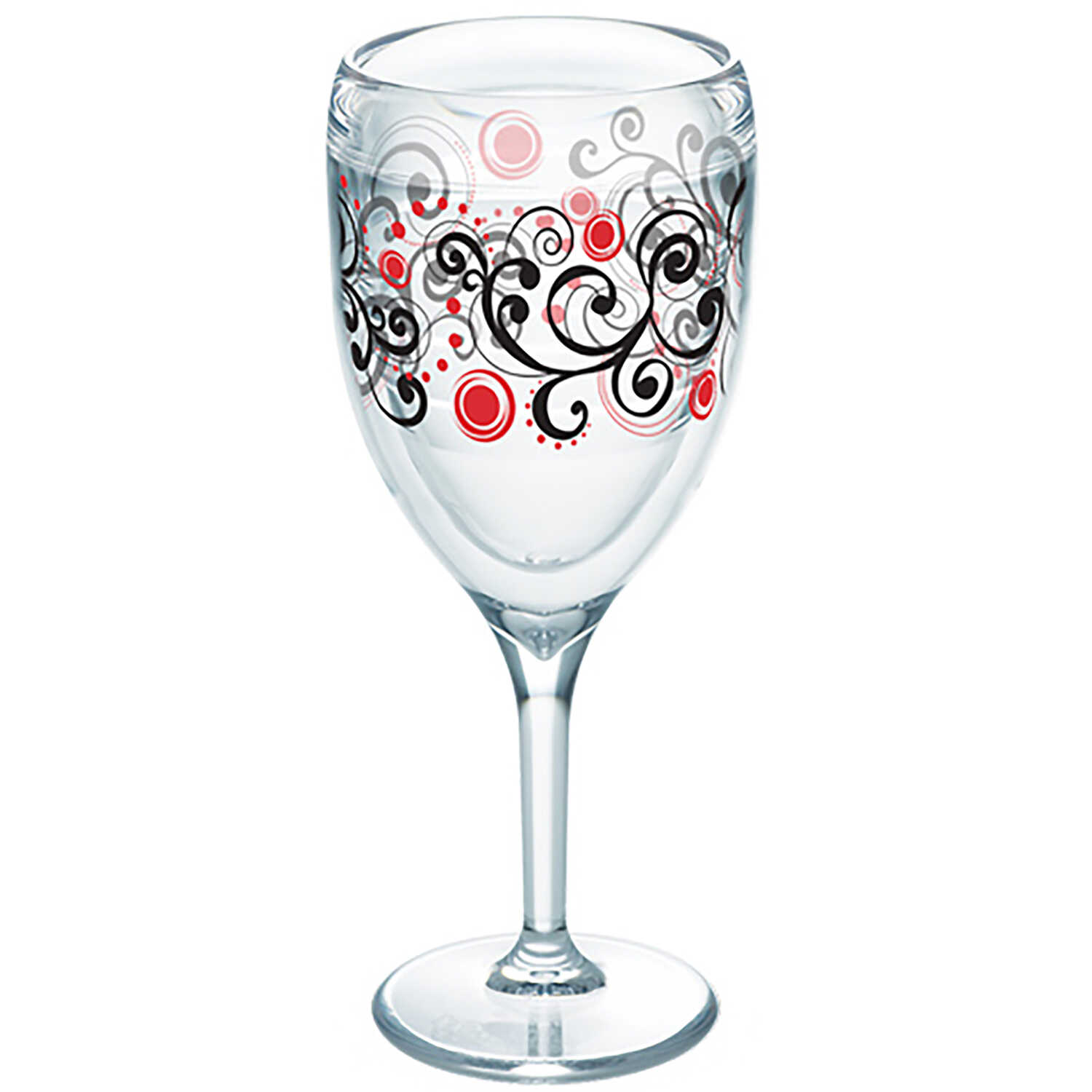 Tervis  Clear  Tritan  Berry Swirlwind  Wine Glass  BPA Free 9 oz.