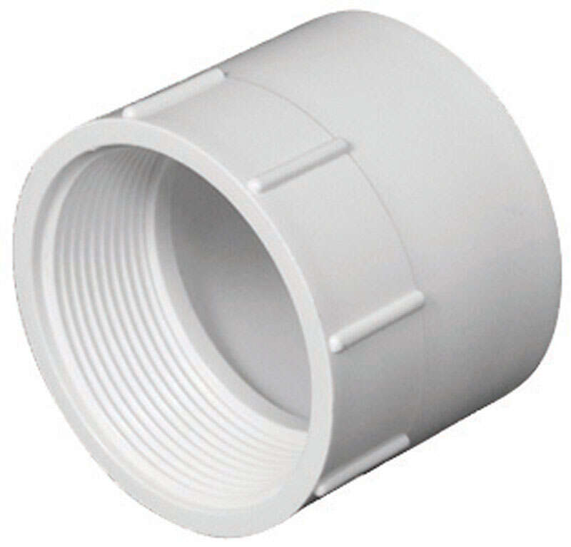 Charlotte Pipe  Schedule 40  2 in. Hub   x 2 in. Dia. FPT  PVC  Pipe Adapter