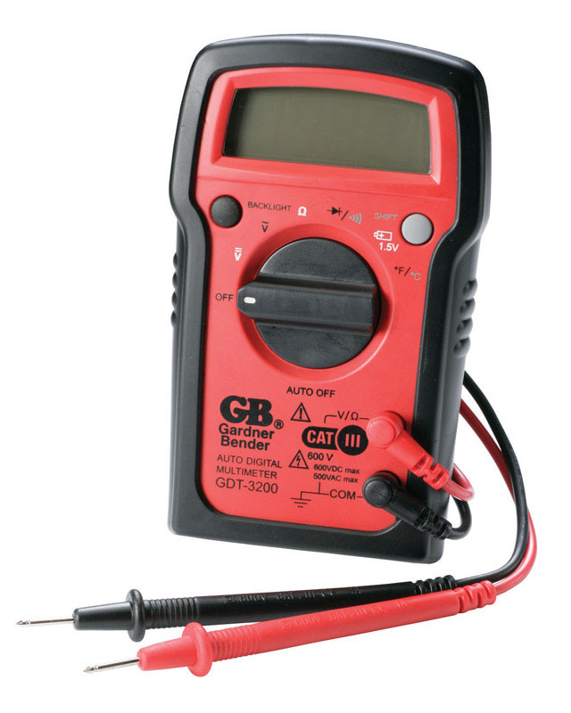 GB  500 VAC, 600 VDC  LCD  Multimeter