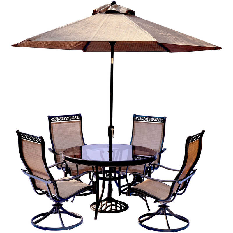 Hanover  Monaco  5 pc. Brown  Aluminum  Dining  Patio Set