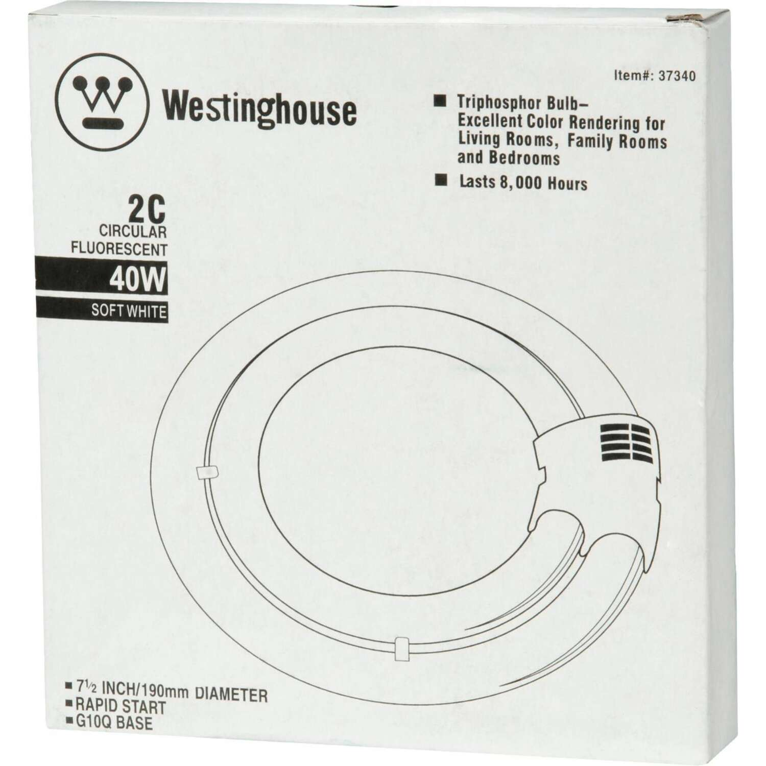 Westinghouse  40 watts T6  7.5 in. Warm White  Fluorescent Bulb  2800 lumens Tubular  1 pk