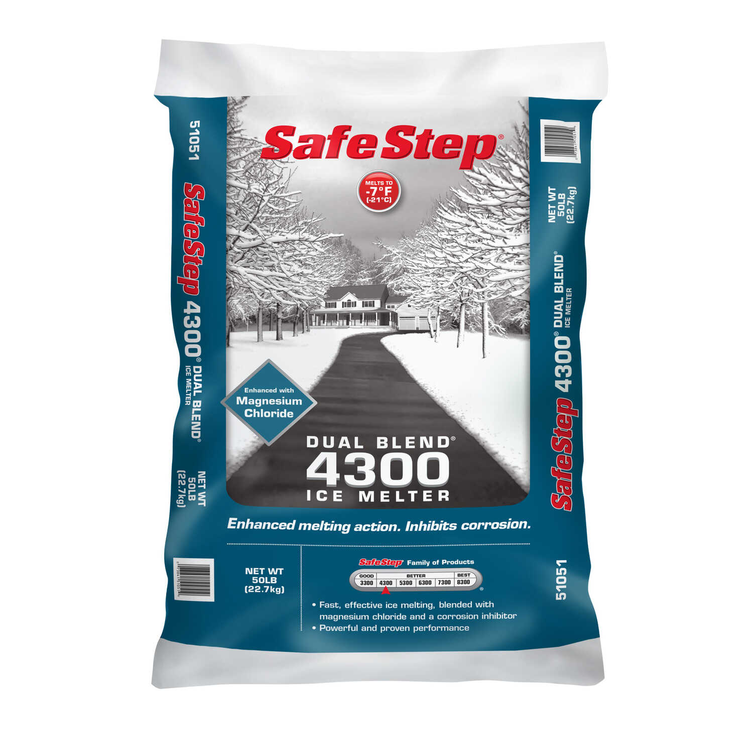 Safe Step  4300  Sodium and Magnesium Chloride  Ice Melt  50 lb. Granule