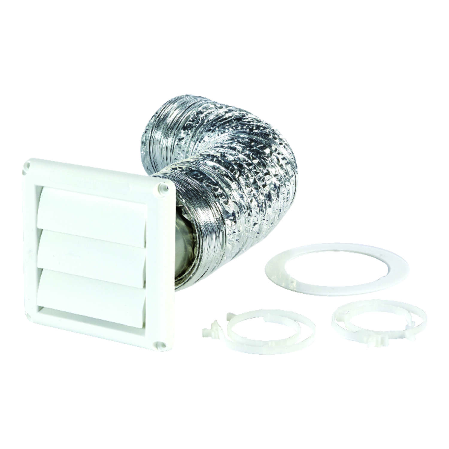 Ace  4 in. W x 5 in. L White  Plastic  Dryer Vent Kit