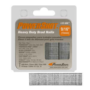 PowerShot  Heavy Duty  18 Ga.  x 9/16 in. L Galvanized  Steel  Brad Nails  1600 pk 0.49 lb.