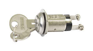 Gardner Bender  Momentary  Keyed Switch  Silver  1 pk