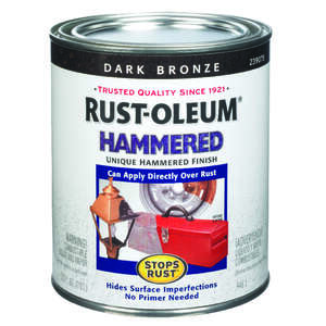 Rust-Oleum  Hammered  Indoor and Outdoor  Hammered  Dark Bronze  Protective Enamel  1 qt.