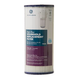GE Appliances  High-Flow  Whole House  Replacement Filter  For All Same Size Competitor Housings