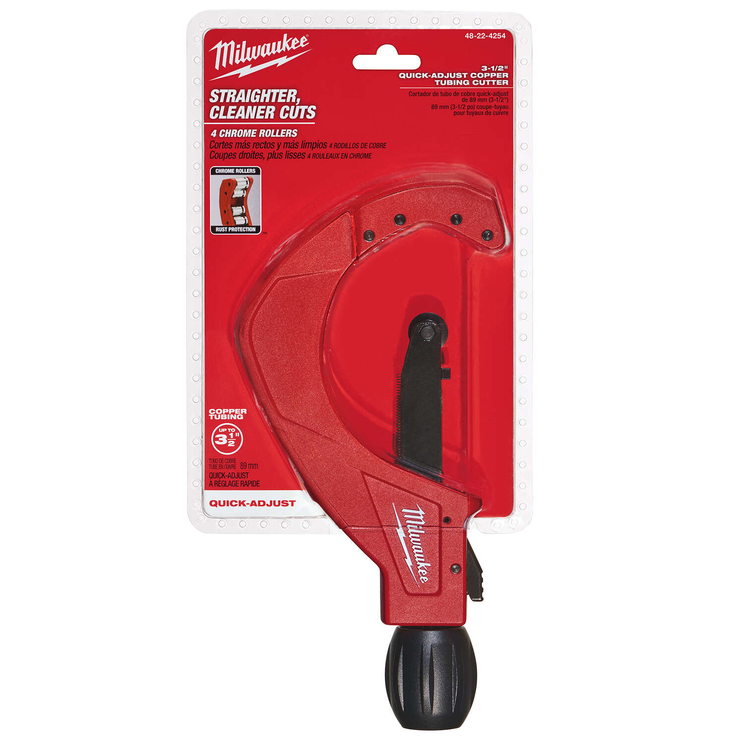 Milwaukee  3-1/5 in. Copper Tubing Cutter  10.5 in. L Red