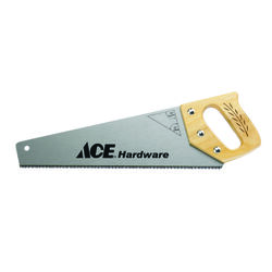 Ace  15 in. Steel  Hand Saw  9 TPI