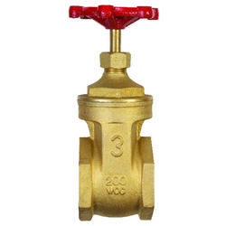 BK Products ProLine 3 in. FIP Brass Gate Valve Lead-Free