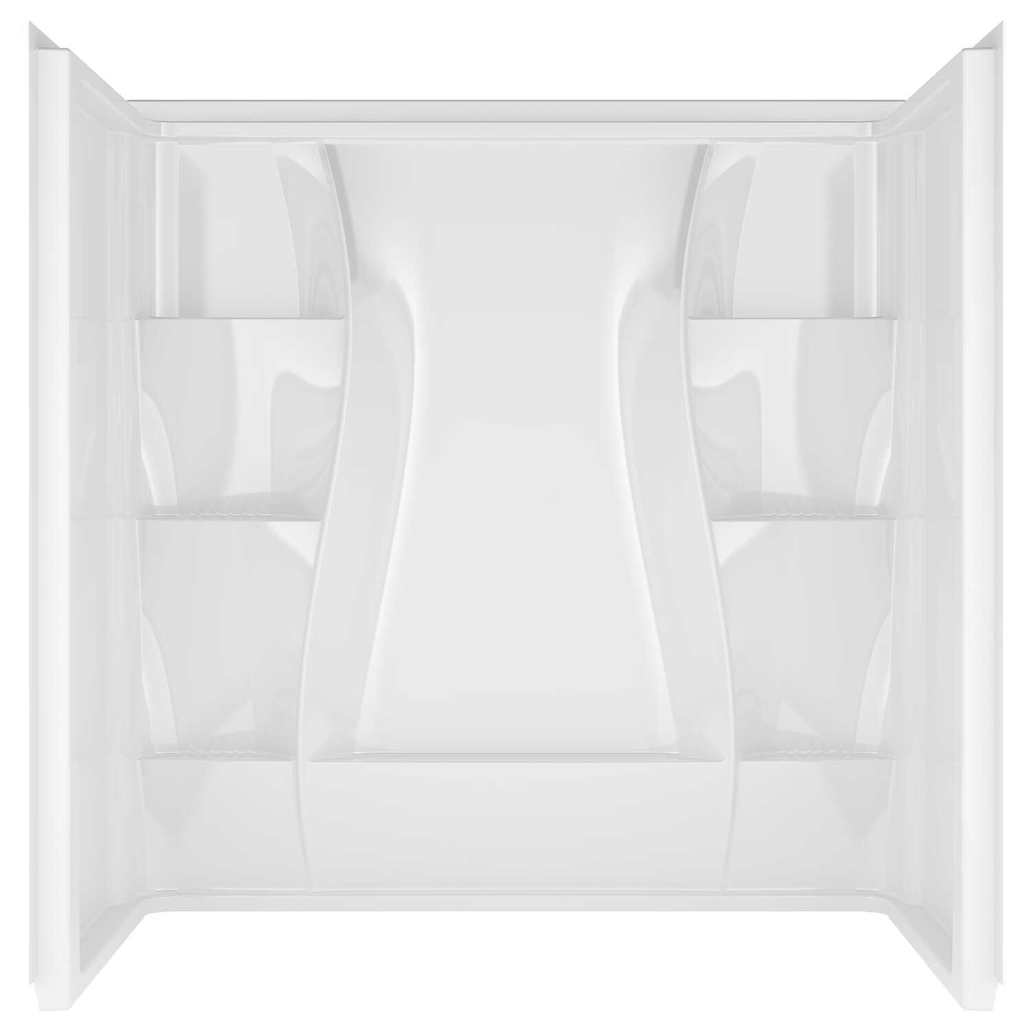 Delta Bathing System  Classic  60 in. H x 60 in. W x 32 in. L White  Rectangle  Acrylic  Bathtub Sur