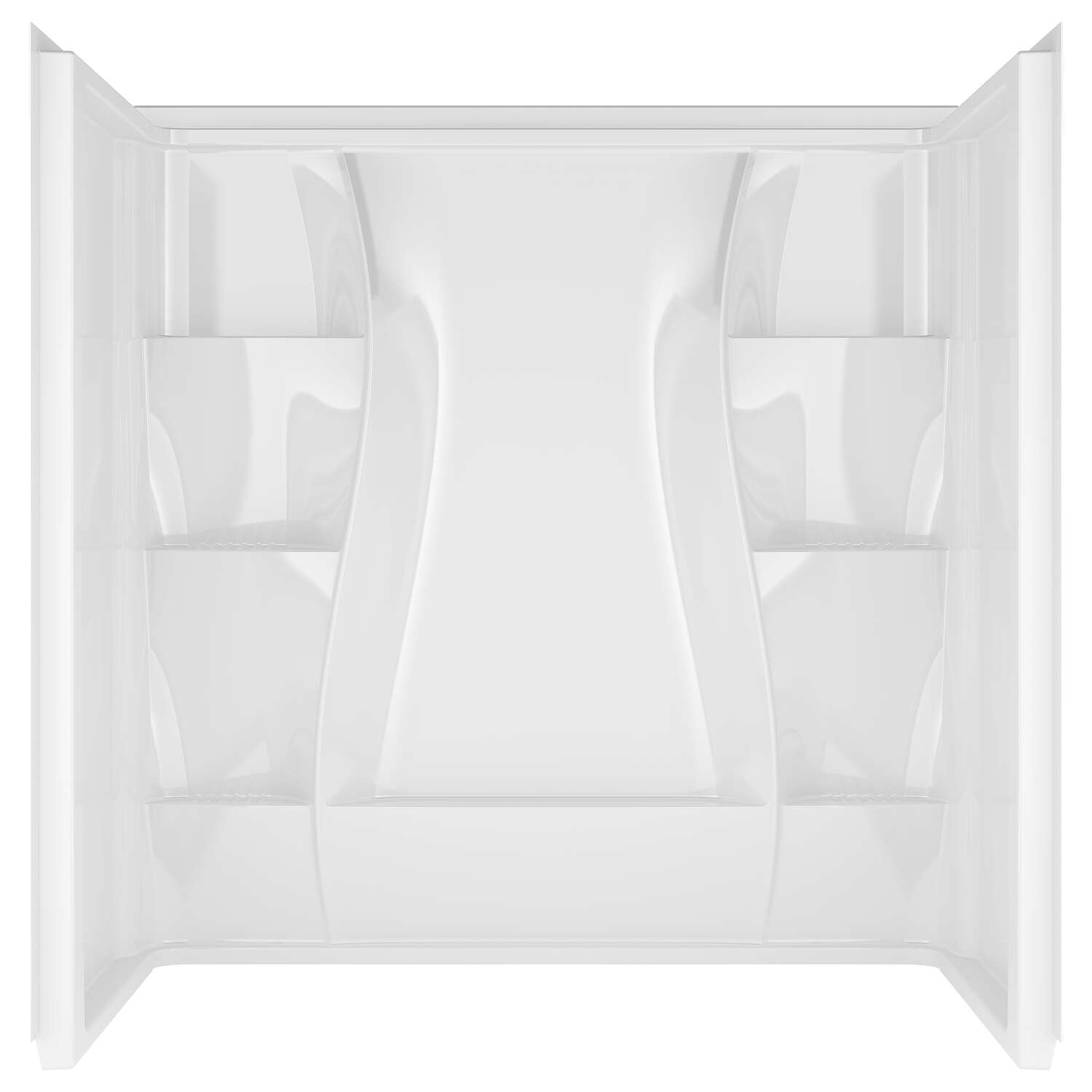 Delta Bathing System  Classic  60 in. H x 60 in. W x 32 in. L White  Bathtub Surround