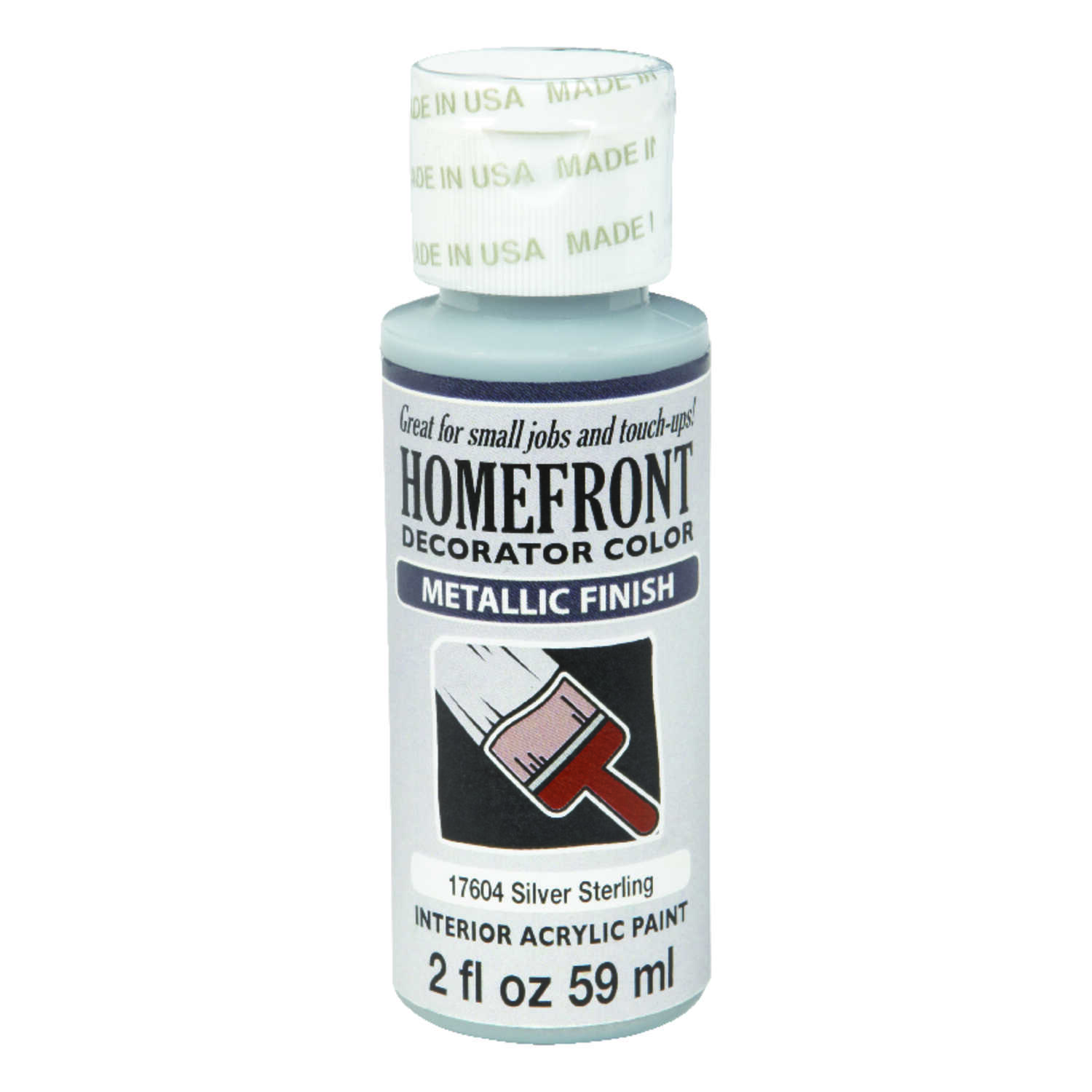 Homefront  Decorator Color  Metallic  Silver Sterling  Hobby Paint  2 oz.