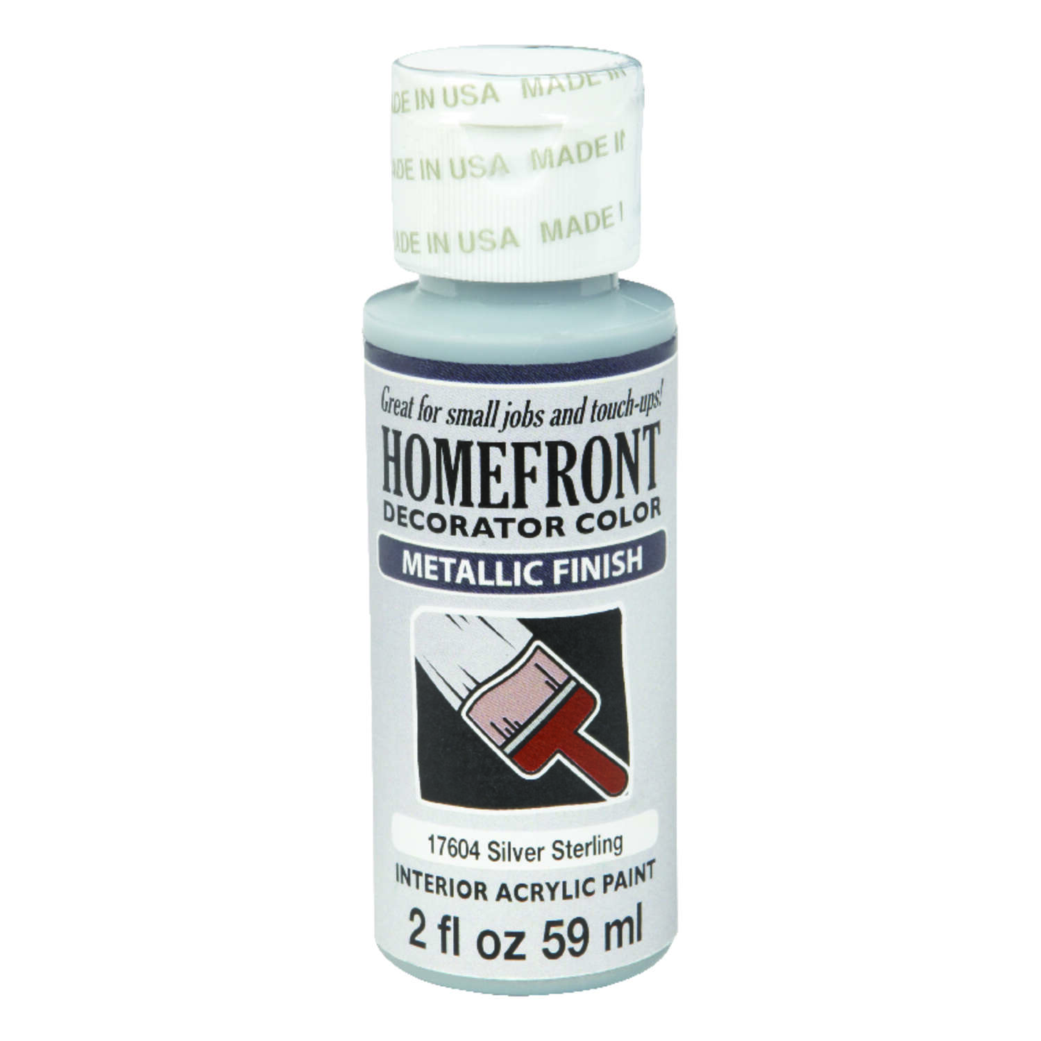 Homefront  Metallic  Silver Sterling  Hobby Paint  2 oz.