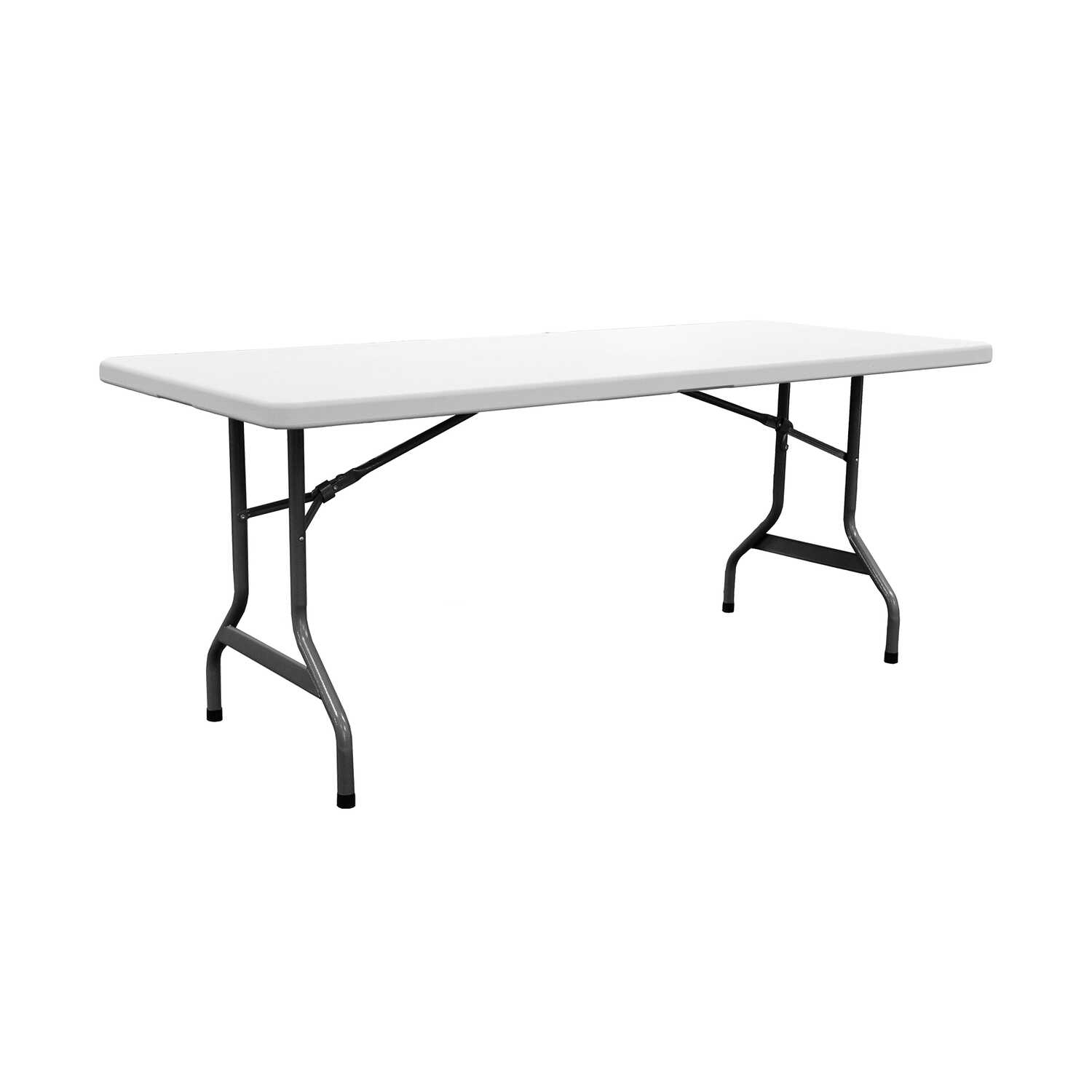 Living Accents  29-1/4  H x 29-5/8  W x 72  L Rectangular  Folding Table
