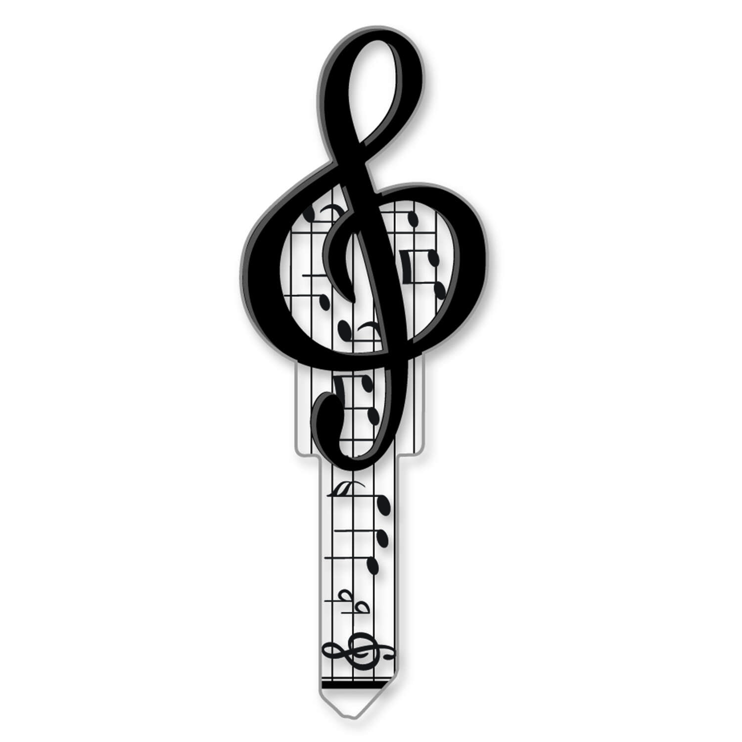 Lucky Line  Key Shapes  Music  House  Key Blank  SC1  Double sided For Schlage