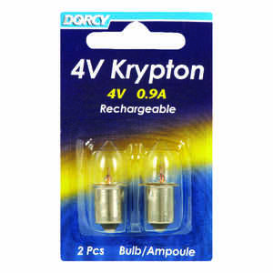 Dorcy  Krypton  Flashlight Bulb  4 volt Bayonet Base