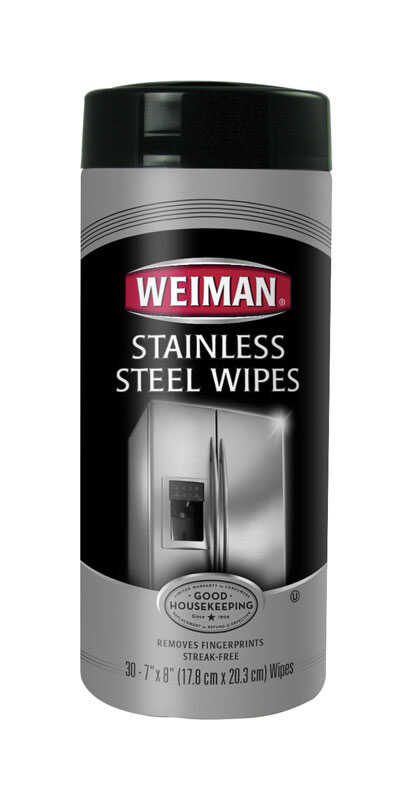 Weiman  Fresh Clean Scent Heavy Duty Stainless Steel Wipes  30 pk Wipes