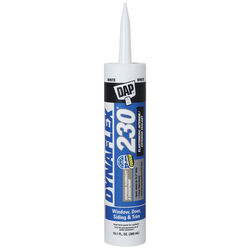 DAP  Dynaflex 230  White  Elastomeric  Door, Trim and Window  Sealant  10.1 oz.