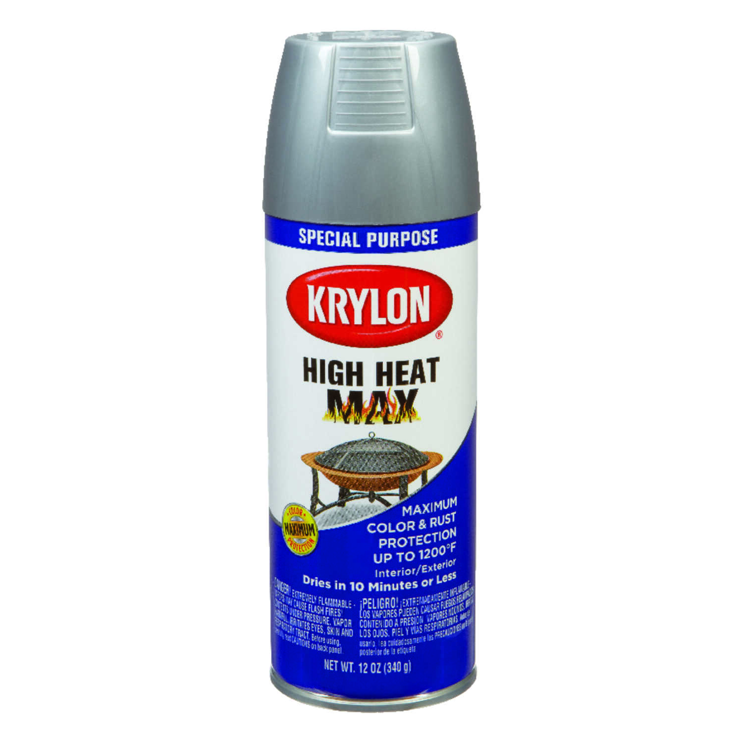 Krylon  Special Purpose  Gloss  Ultra High Heat Spray  12 oz. Aluminium