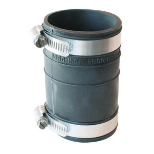 Fernco  Schedule 40  1-1/2 in. Socket   x 1-1/2 in. Dia. Socket  PVC  Flexible Coupling