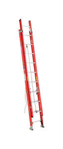 Werner  20 ft. H x 19 in. W Extension Ladder  Type IA  Fiberglass  300 lb.