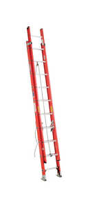 Werner  20 ft. H x 19 in. W Fiberglass  Extension Ladder  Type IA  300 lb.