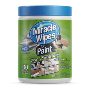 Miracle Brands  MiracleWipes  Fiber Blend  MiracleWipes  12 in. W x 6 in. L 60 pk