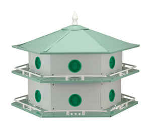 Heath  24 in. H x 27 in. W x 27 in. L Aluminum  Bird House