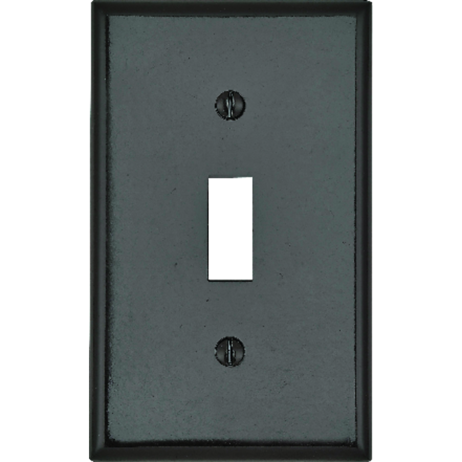 Leviton  Brown  1 gang Plastic  Wall Plate  1 pk Toggle