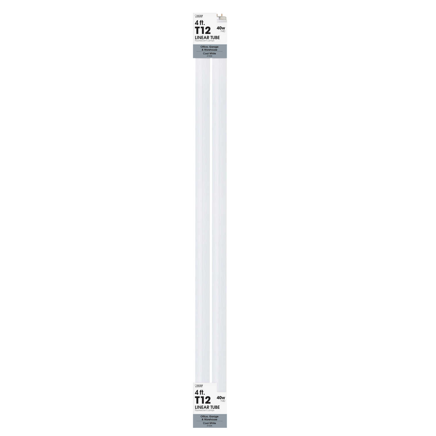 Ace  40 watts T12  48 in. L Cool White  Fluorescent Bulb  Linear  2900 lumens 2 pk