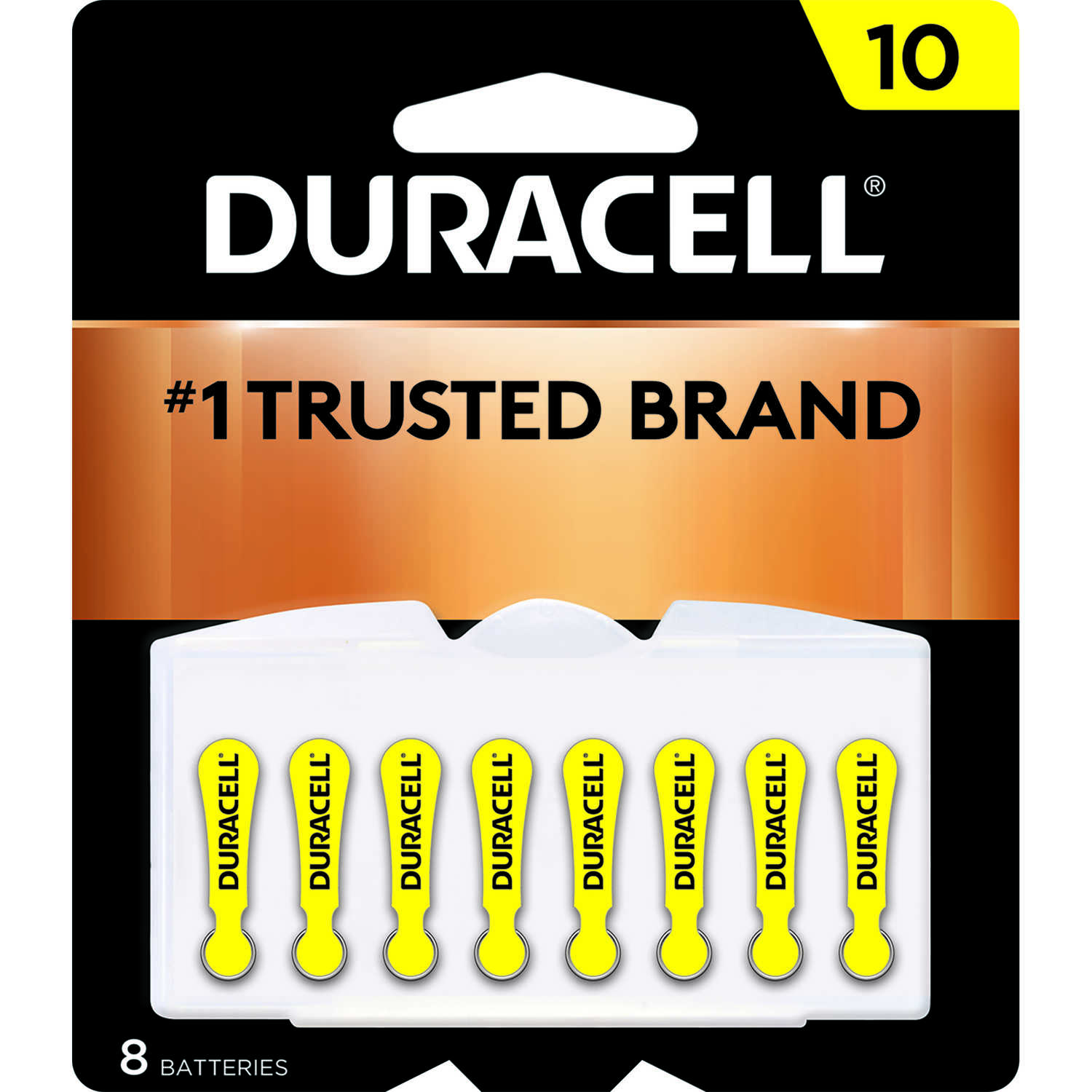 Duracell  Zinc Air  10  1.4 volt Hearing Aid Battery  8 pk
