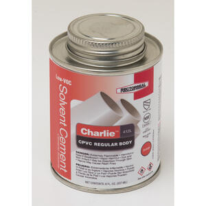 Rectorseal  Charlie  Orange  Solvent Cement  For CPVC 8 oz.