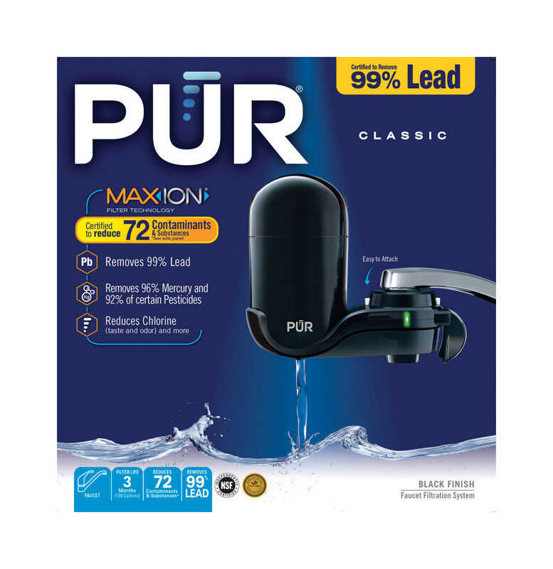 PUR  Maxion  Vertical Faucet Mount Filter  For Faucets 100 gal.