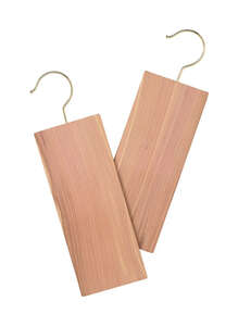 Whitmor  3-1/2 in. H x 1/3 in. W x 11-2/3 in. L Brown  Hanger Holder  5 lb. 2 pk Wood
