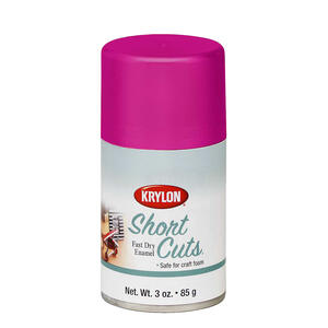 Krylon  Short Cuts  Gloss  Hot Pink  Spray Paint  3 oz.