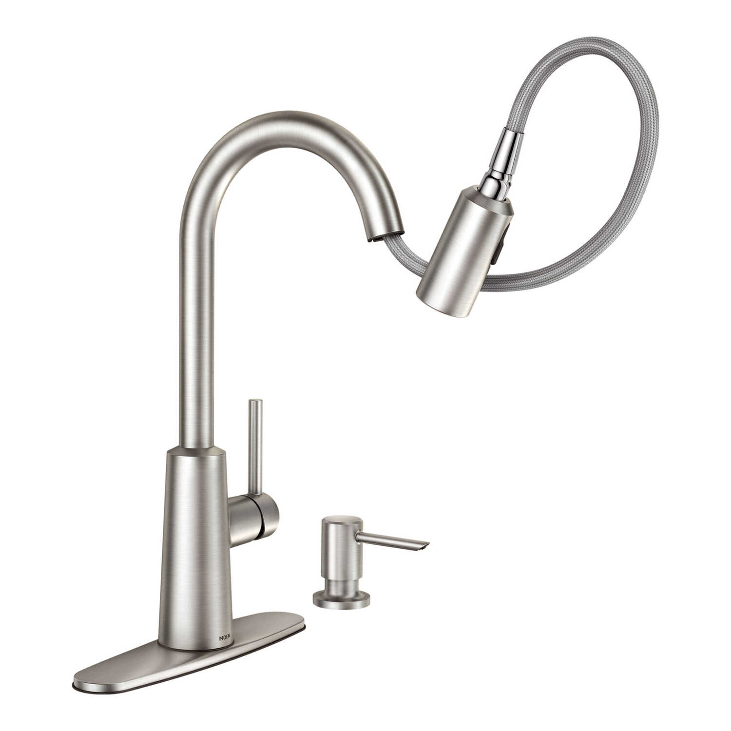 Moen  Nori  One Handle  Stainless Steel  Pulldown Kitchen Faucet