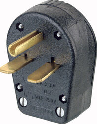 Leviton Commercial Thermoplastic Angle Ground/Straight Blade Plug 6-30P/6-50P 14-6 AWG 2 Pole