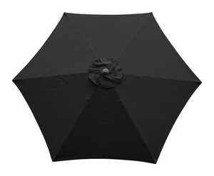 Living Accents  MARKET  9 ft. Tiltable Black  Patio Umbrella