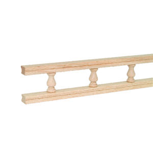 Waddell  2.3 in. H x 48 in. W x 0.8 in. L Wood  Galley Rail
