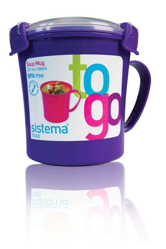 Sistema Soup Mug Microwave/Freezer 2.75 cup  Assorted