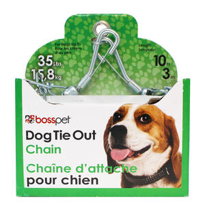 PDQ  Silver  Swivel  Steel  Dog  Tie Out Chain  Small/Medium