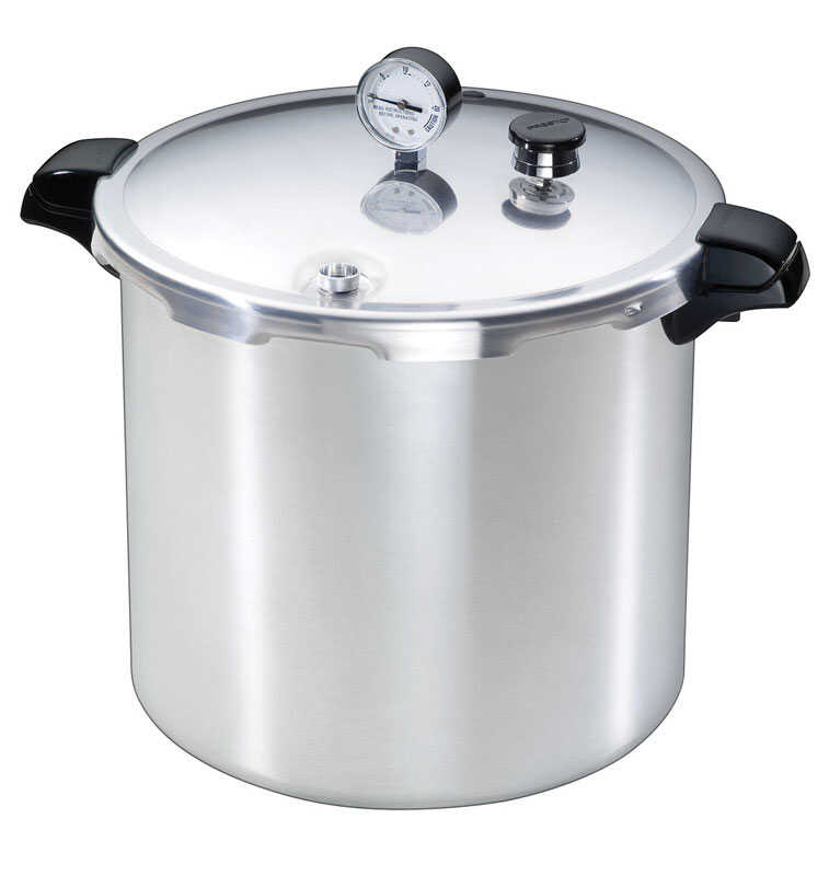 Presto  Brushed Aluminum  Pressure Cooker and Canner  23 qt.