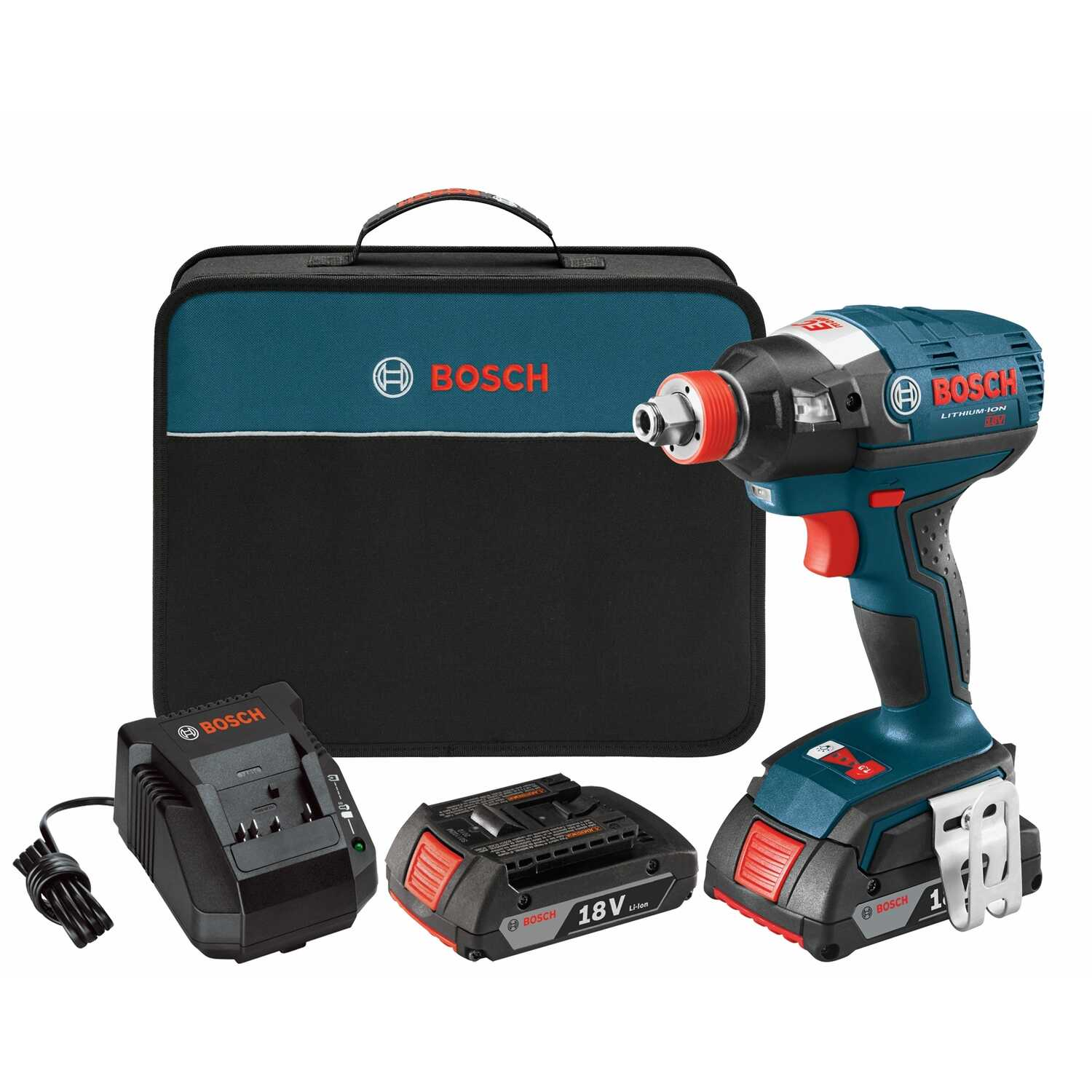 Bosch  18 volt 1/4 in. Hex  Cordless  Impact Driver  Kit 2800 ipm 1650 in-lb 3  1300 rpm 1/2 in.