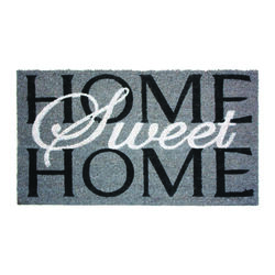 J & M Home Fashions 36 in. L x 24 in. W Gray Nonslip Door Mat