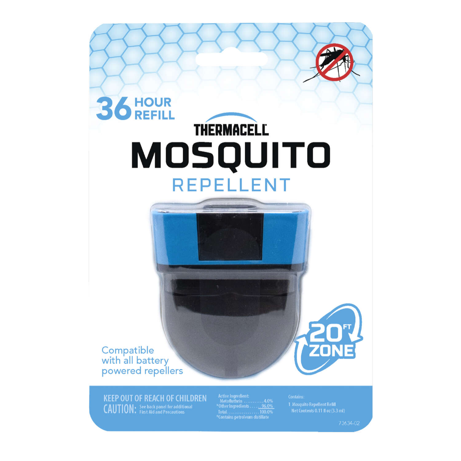 Thermacell  Insect Repellent Refill  Cartridge  For Mosquitoes/Other Flying Insects 1 pk