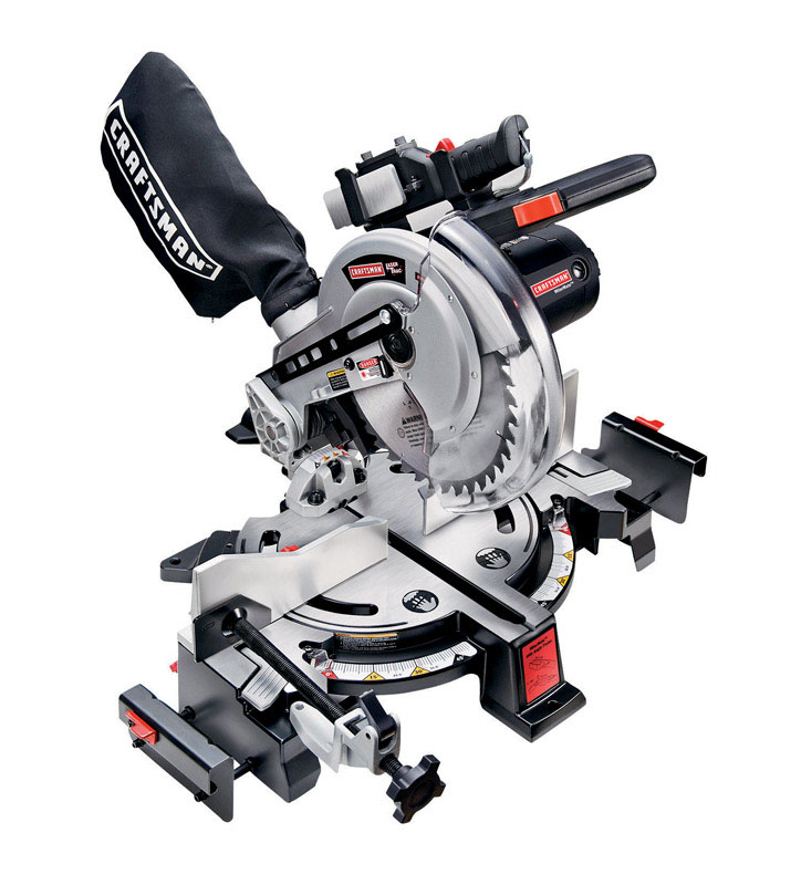 Craftsman  Miter Saw  10 in. Dia. 120 volts 4800 rpm 15 amps  Bare Tool