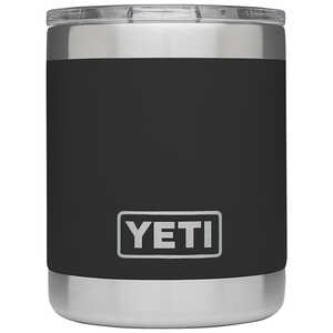 YETI  Rambler  Black  Lowball  Insulated Tumbler  BPA Free 10 oz. Stainless Steel