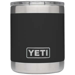 YETI  Rambler  Black  Stainless Steel  Insulated Tumbler  BPA Free 10 oz. Lowball